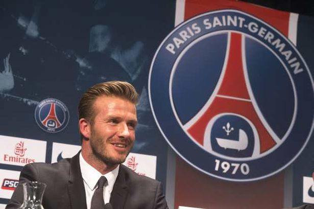 David Beckham signs for Paris St Germain
