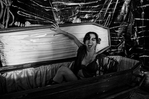 A prostitute presumed dead woke up screaming in a coffin