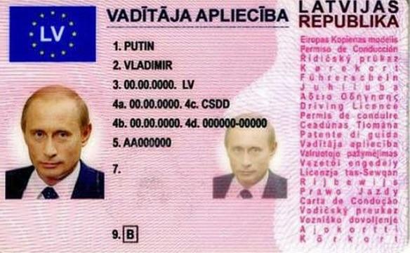 Vladimir Putin Driving Licence