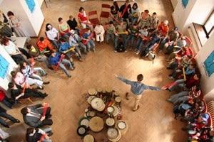 A drum circle