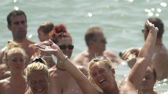 Nude bathing world record